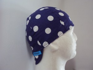 Polka Dots White On Purple Welding Hat