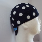 Polka Dots White On Navy Welding Hat