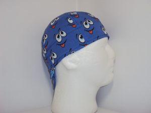 Blue Smiley Welders Cap