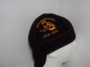 Embroidered Boilermakers Union And Local Number Welders Cap