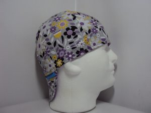 Spring Flowers on Grey Welders Cap