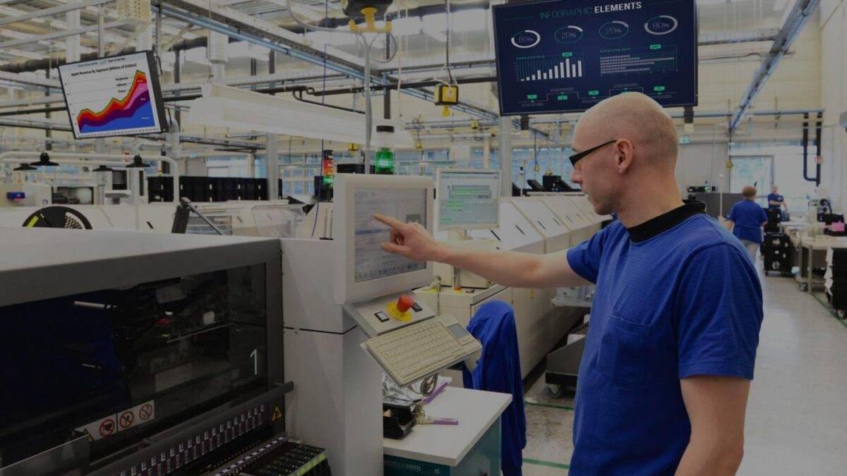 Miaterbeiter Infotafel Industrie