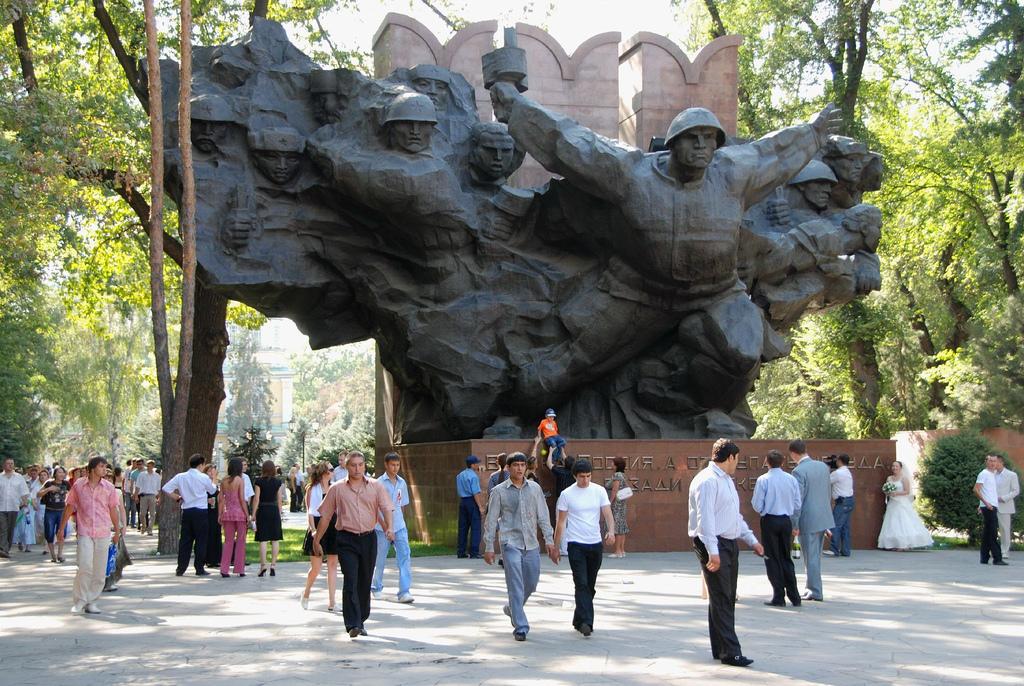 Panfilov Park Statue