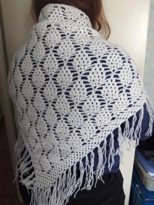 Chale blanc motif ananas