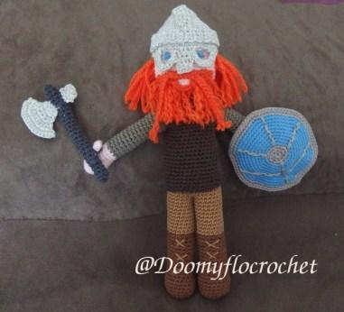 viking amigurumi au crochet