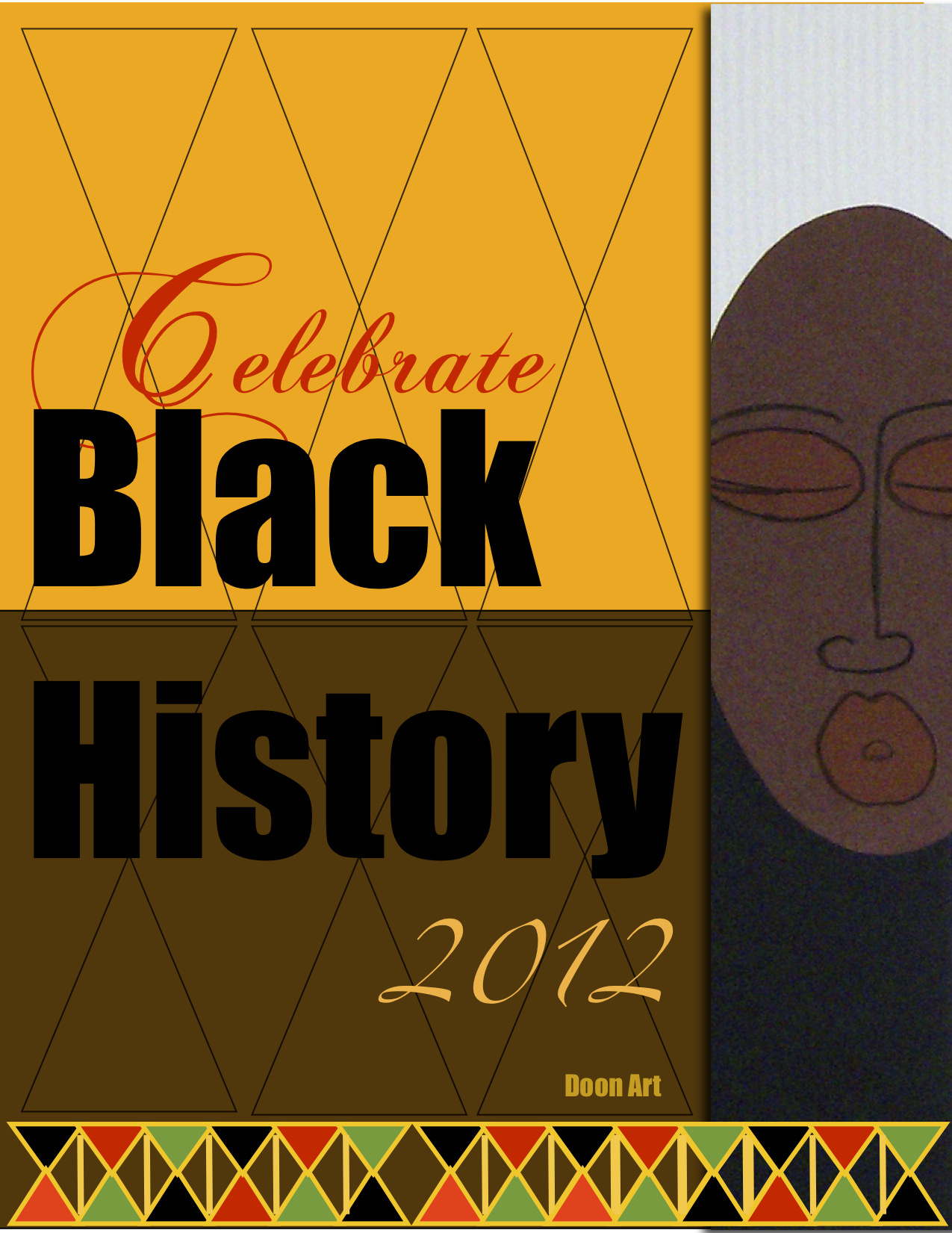 Celebrate Black History Month Printable Graphic