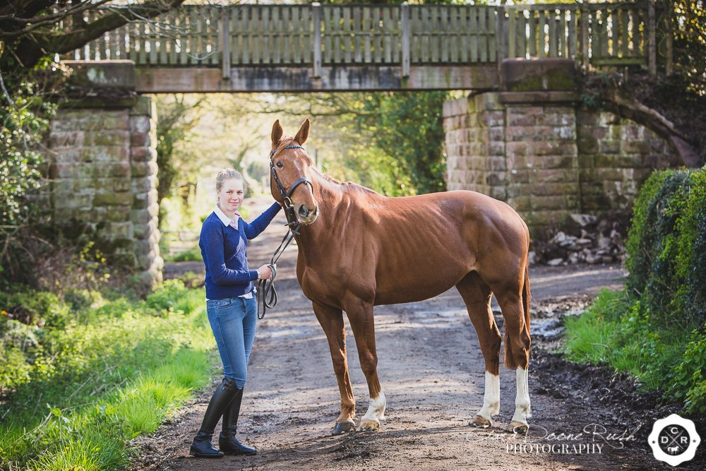 A horse and rider photo shoot on the wirral way