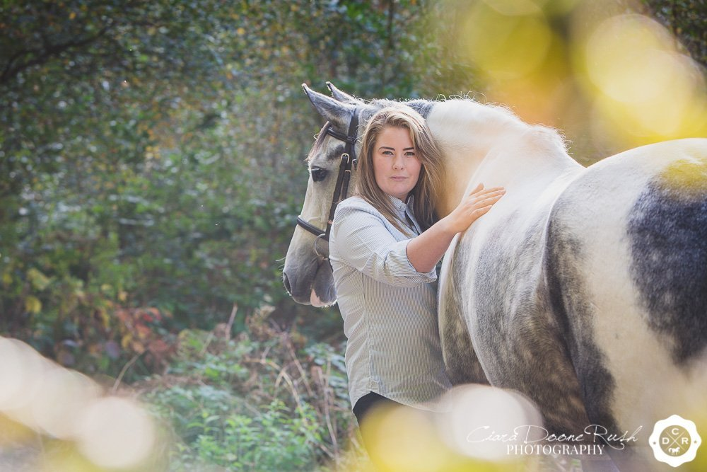 horse and rider in delamere forest