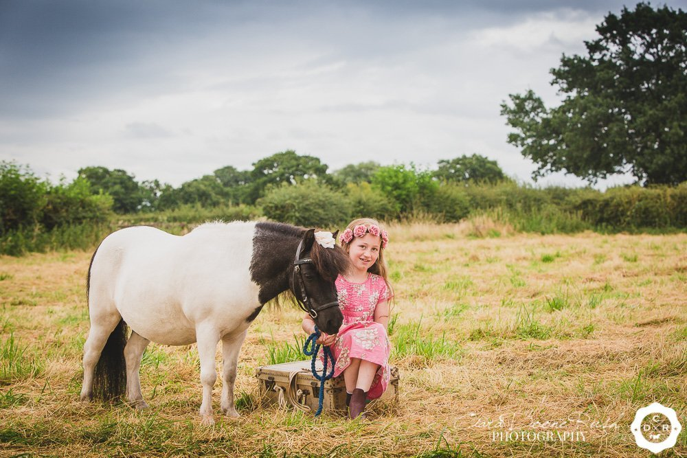 A girl and her shetland