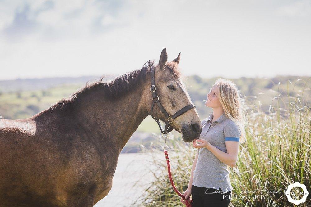 horse and rider photo shoot