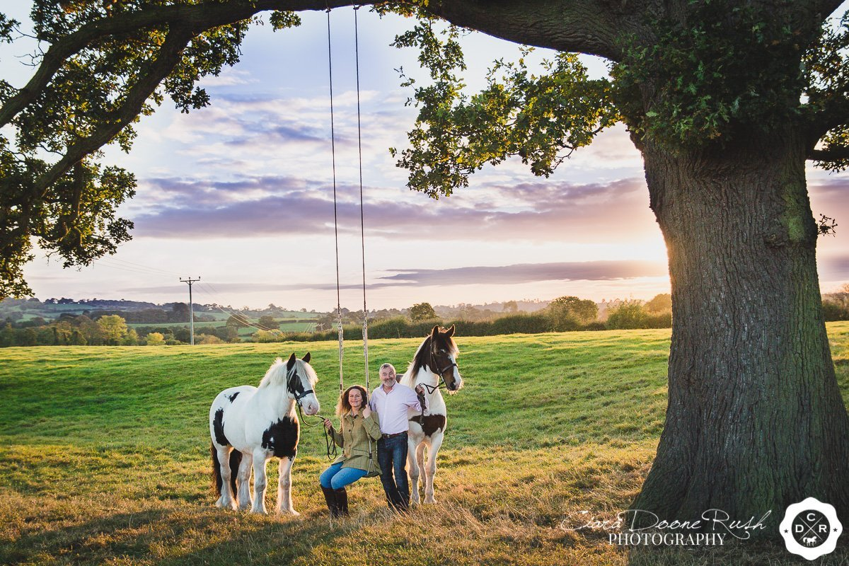 on location near whitchurch for a Horse and rider photo shoot