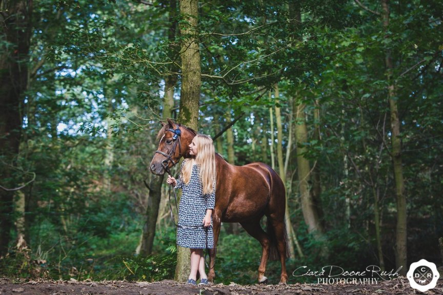 on location in marbury park for a Horse and rider photo shoot