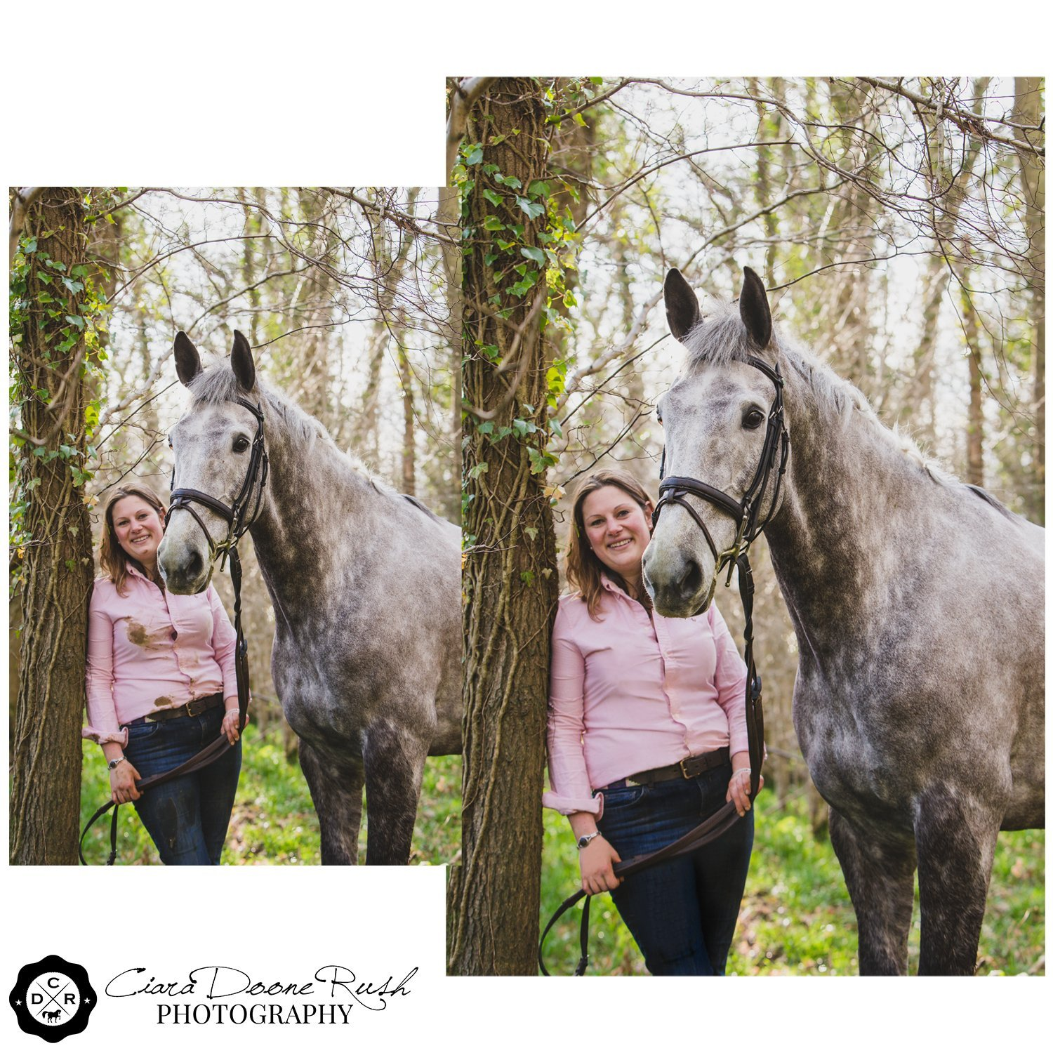horse and rider photo shoot in the cotswolds