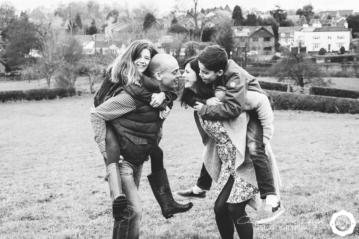 family fun on a photo shoot