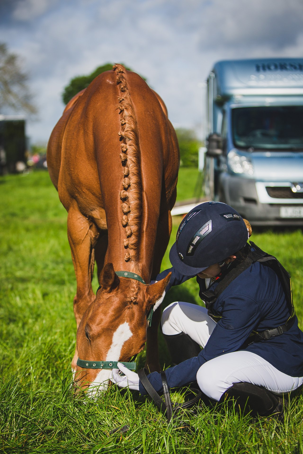 getting ready for show jumping - b*spoke competition shoot