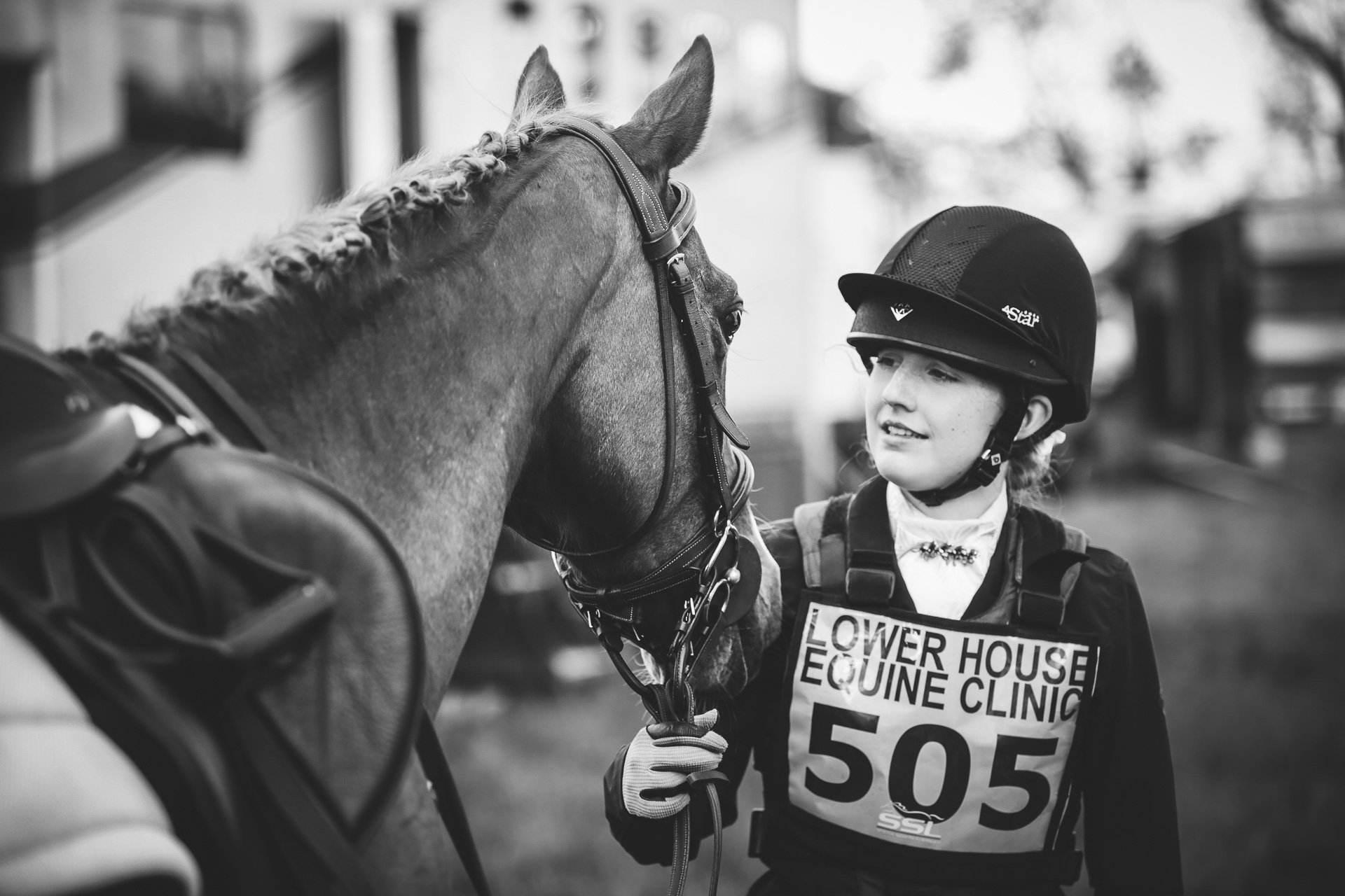 horse and rider at Llanymynech horse trials