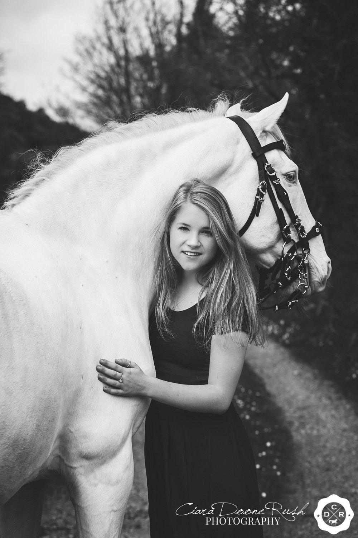 cuddling a stallion
