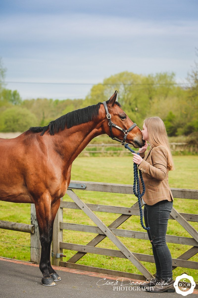 A horse and rider photo shoot in salisbury