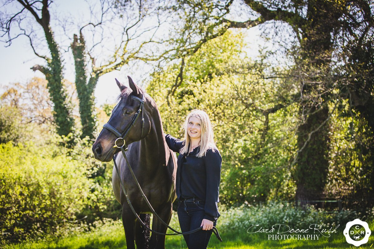 A horse and rider photo shoot in cheshire