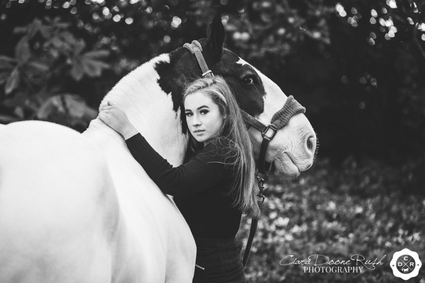 a girl and her cob
