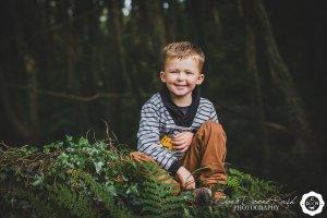a boy on a photo shoot