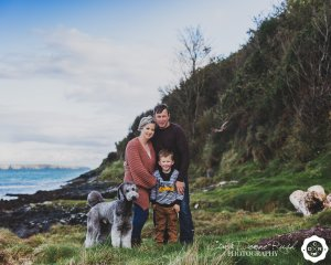 A Family and animals photo shoot in Cork