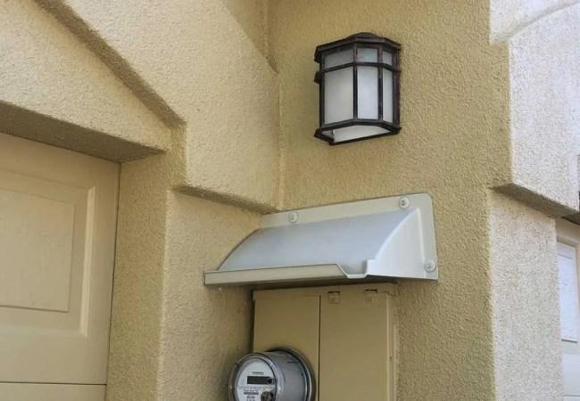 electric panel rain diverter