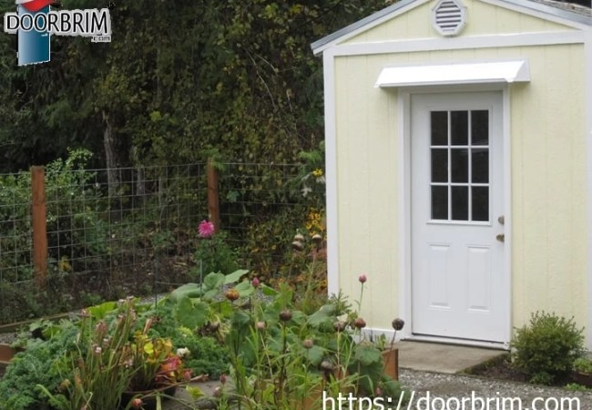 Door rain guard is affordable and stops leaking shed doors.
