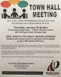 hall town meeting flyer alcohol parents drug coalition
