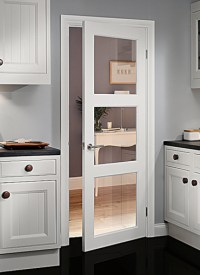 Shaker style interior French doors are in fashion