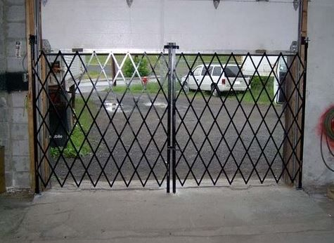 Gates for garage and warehouse doors