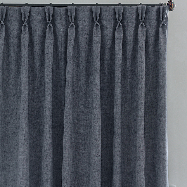navy blue yellow and grey living room value city leather sets curtains 101 – pinch pleats vs pencil door eleven