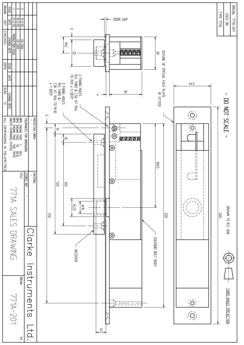hight resolution of clarke instruments 771 technical sheet