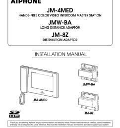 aiphone jm 4med installation instructions [ 800 x 1035 Pixel ]