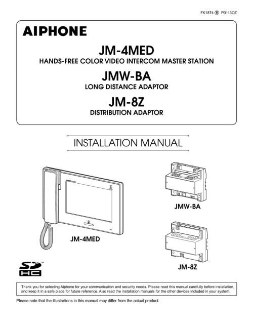 small resolution of aiphone jm 4med installation instructions