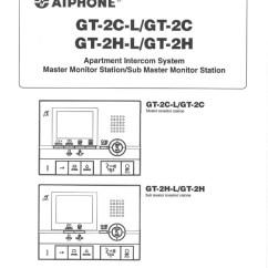 Aiphone Intercom Wiring Diagram Kz1000 Installation Instructions Gt 2c L 2h User Manual