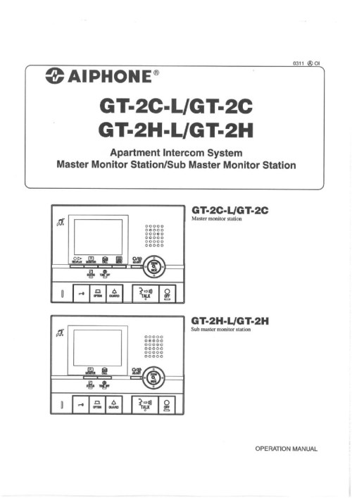 small resolution of aiphone gt 2c l gt 2h l user manual