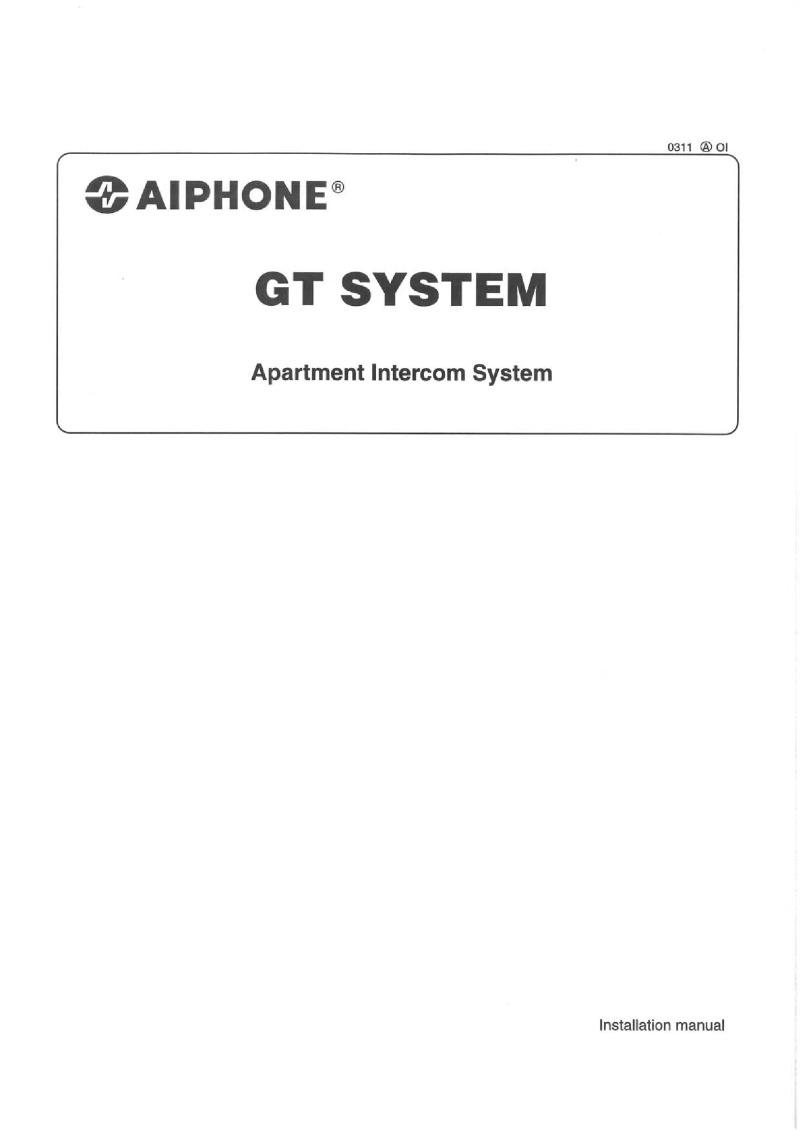 aiphone intercom wiring diagram porsche 924 diagrams installation instructions gt series