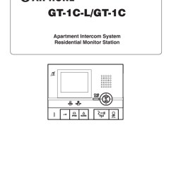 Aiphone Intercom Wiring Diagram Home Entertainment Installation Instructions Gt 1c Operation Manual