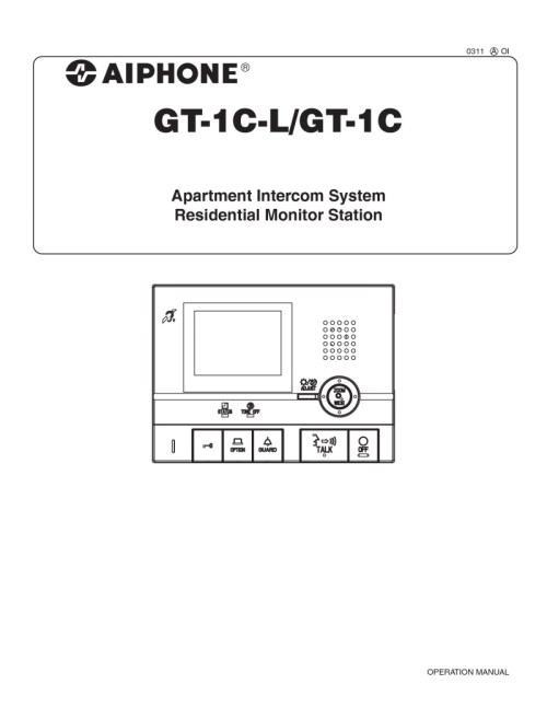 small resolution of aiphone gt 1c operation manual