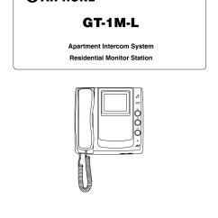 Aiphone Intercom Wiring Diagram Single Phase For House Installation Instructions Gt 1m L User Manual