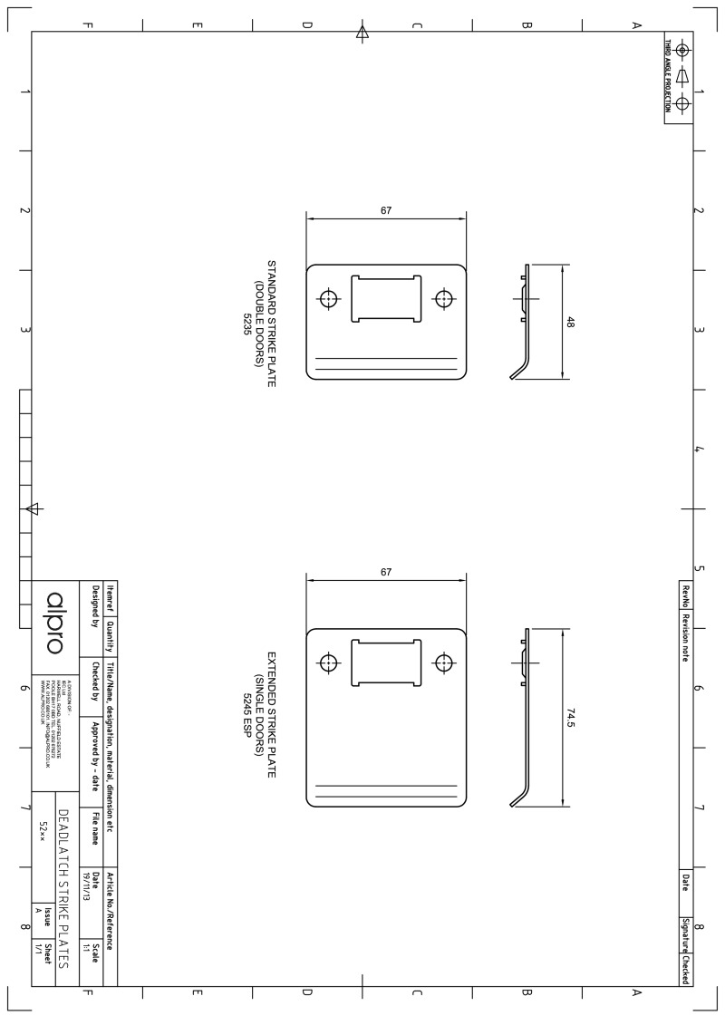 hight resolution of alpro 5245 esp strike plates instructions