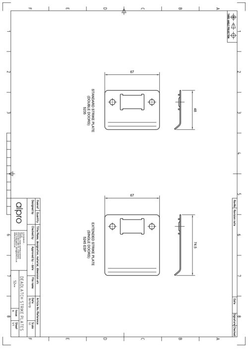small resolution of alpro 5245 esp strike plates instructions