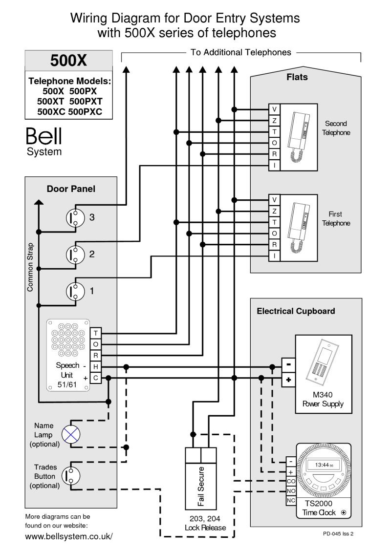 4 Wire Intercom Wiring Diagram Bell Wiring Diagrams