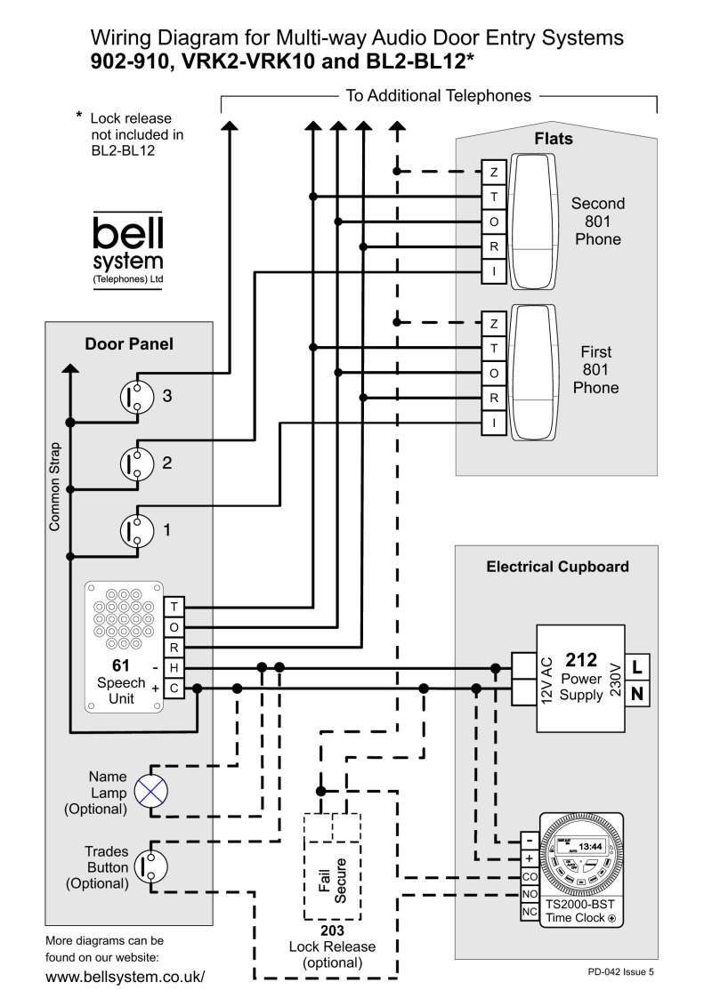 bell 901 door entry system wiring diagram single pole switch diagrams bstl 902 10 vrk2 bl2 12 multi way