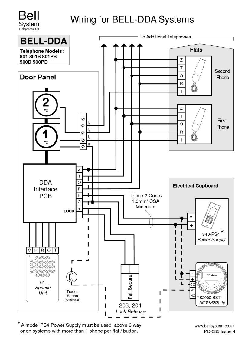 bell 901 door entry system wiring diagram pioneer deh p400ub diagrams dda for n systems