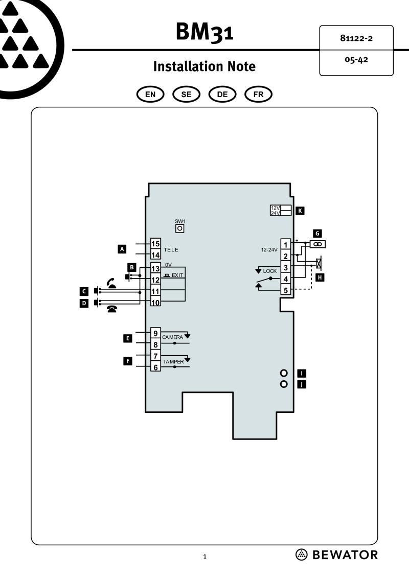 medium resolution of siemens bewator bm31 data sheet