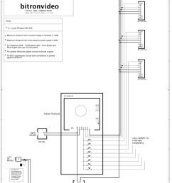 bitron 4 n wire audio system vandal resistant inox entrance panel dc [ 800 x 1132 Pixel ]