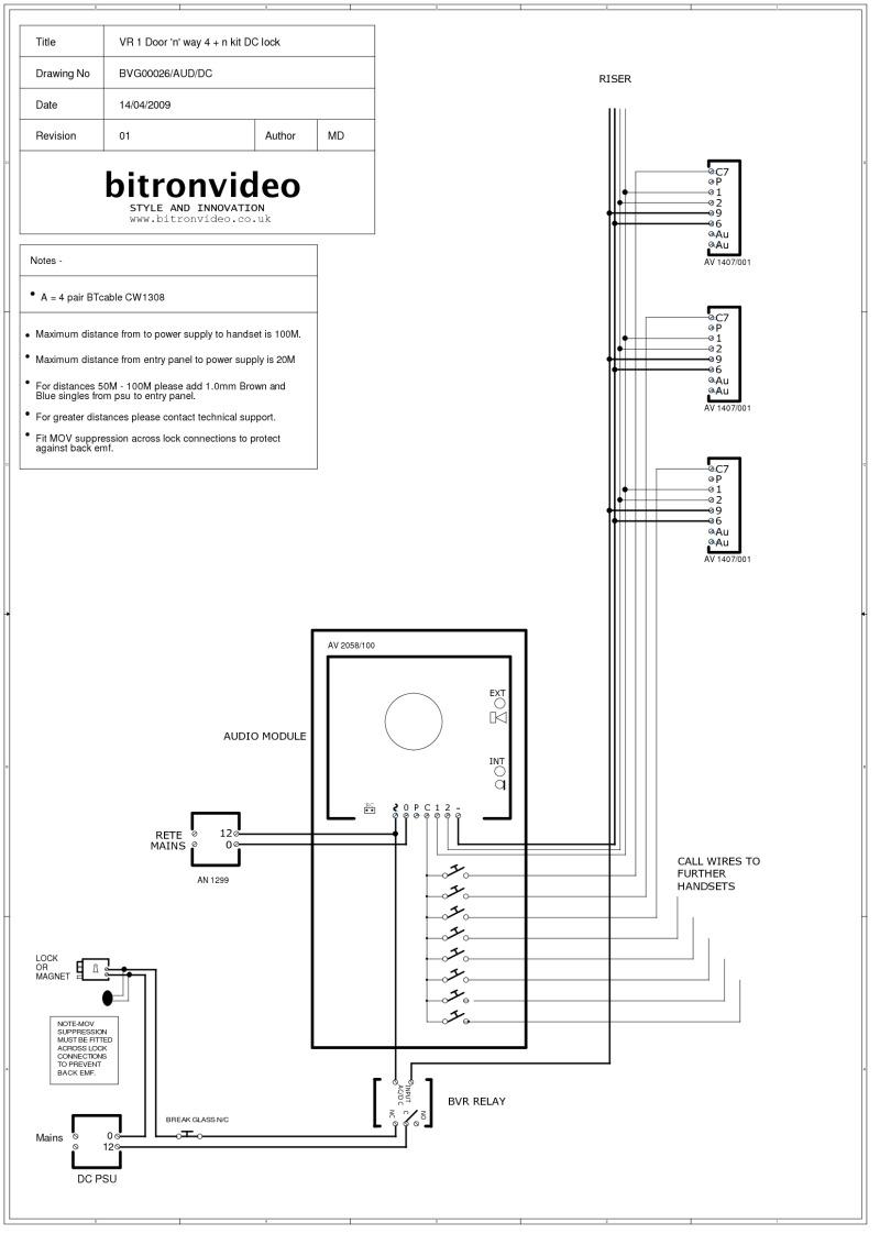 medium resolution of bitron 4 n wire audio system vandal resistant inox entrance panel dc