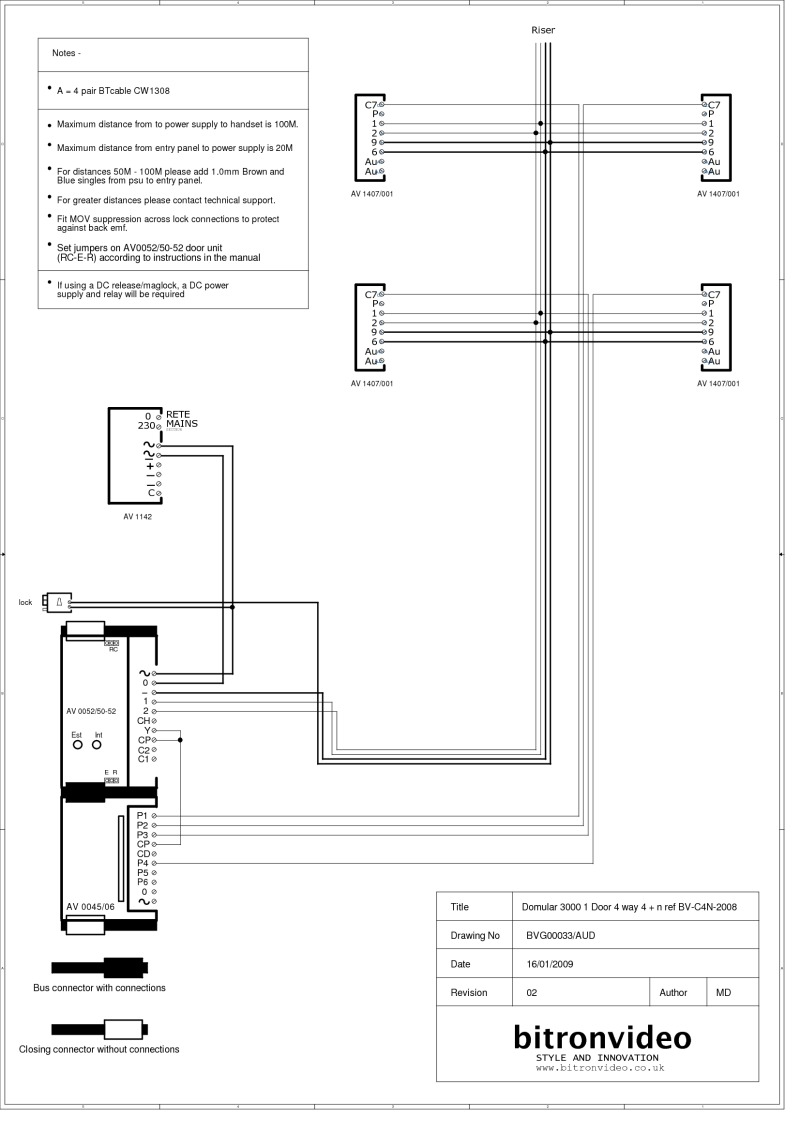 medium resolution of bitron 4 n wire audio system domular 3000 entrance panel